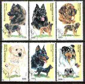Chad 1999 Dogs complete set of 6 values fine cto used*
