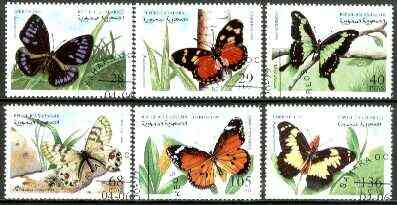 Sahara Republic 1999 Butterflies complete set of 6 values fine cto used*