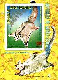 Equatorial Guinea 1974 Australian Animals (Flying Possum) imperf m/sheet fine cto used, MI BL 144