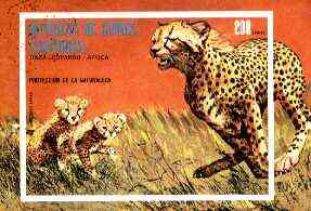 Equatorial Guinea 1974 African Animals (Leopard) imperf m/sheet fine cto used, MI BL 146