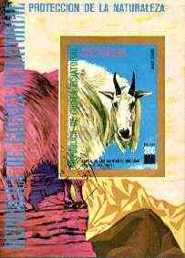 Equatorial Guinea 1977 North American Animals (Goat) imperf m/sheet fine cto used, MI BL 272