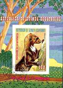 Equatorial Guinea 1977 South American Animals (Otter) imperf m/sheet fine cto used, MI BL 274