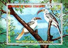 Equatorial Guinea 1976 African Birds (130p) perf m/sheet fine cto used, MI BL 246