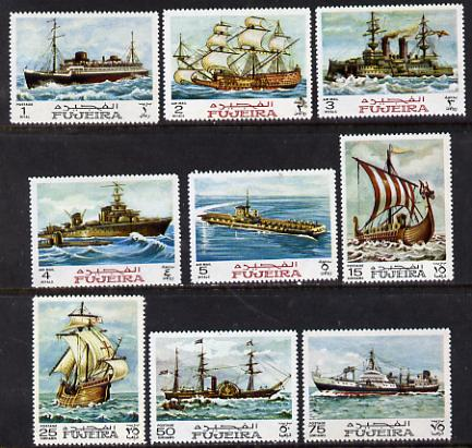 Fujeira 1968 Ships perf set of 9 (Mi 234-42) unmounted mint
