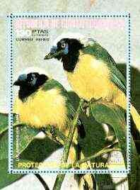 Equatorial Guinea 1974 South American Birds (130p) perf m/sheet fine cto used, MI BL 147