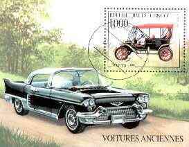 Congo 1999 Classic Cars perf m/sheet fine cto used