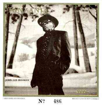Tanzania 1995 John Lee Hooker imperf m/sheet 2000s value (from limited printing) unmounted mint
