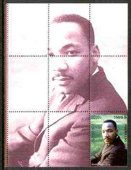 Laos 1999 Great People of the 20th Century (Martin Luther King) perf souvenir sheet unmounted mint