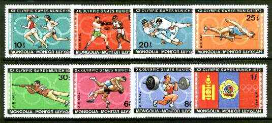 Mongolia 1972 Munich Olympic Games set of 8 unmounted mint, SG 677-84*