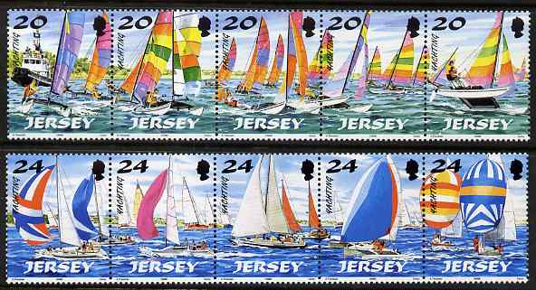 Jersey 1998 Jersey Yachting (1st series) set of 10, unmounted mint SG 854-63
