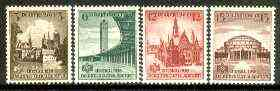 Germany 1938 16th German Sports Tournament, Breslau set of 4 unmounted mint SG 653-56, stamps on sport, stamps on stadia, stamps on cathedrals
