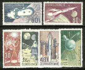 Czechoslovakia 1962 Space Research (2nd series) set of 6 unmounted mint SG 1285-90