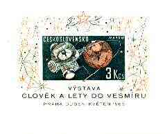 Czechoslovakia 1963 Space Research (3rd series) 3K m/sheet unmounted mint SG MS 1354a