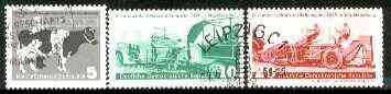 Germany - East 1958 Agriculture Exhibition set of 3 fine used SG E365-67