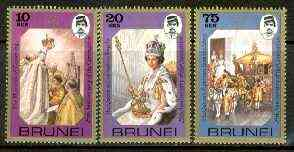 Brunei 1978 25th Anniversary of Coronation set of 3 unmounted mint SG 267-69*