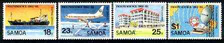 Samoa 1982 20th Anniversary of Independence set of 4 unmounted mint, SG 616-619