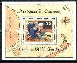 Samoa 1987 Explorers of the Pacific m/sheet (Le Comte De La Perouse) unmounted mint, SG MS 762
