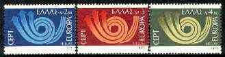 Greece 1973 Europa set of three unmounted mint SG 1249-51