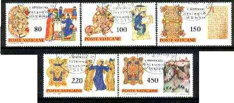 Vatican City 1980 Europa set of 5 fine used, SG 735-739