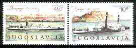 Yugoslavia 1979 Danube Conference set of two paddle-steamers fine used, SG 1910-1911