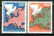 Yugoslavia 1975 European Security set of 2 fine used SG 1631-32