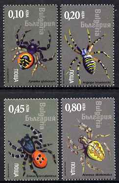 Bulgaria 2005 Spiders perf set of 4 unmounted mint SG 4544-47