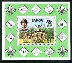 Samoa 1982 75th Anniversary of Scouting m/sheet unmounted mint, SG MS 624