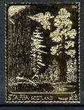 Staffa 1981 US National Parks - Sequoia \A38 value perforated & embossed in 23 carat gold foil, unmounted mint
