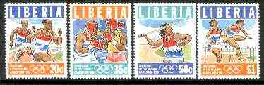 Liberia 1996 Olympic Games Centenary set of 4 unmounted mint, Sc 1200-03*
