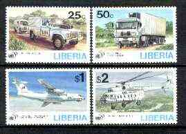 Liberia 1995 UN 50th Anniversary - Transport set of 4 unmounted mint, Sc 1187-90*