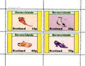 Bernera 1982 Footware perf set of 4 (Shoes of 1430, 1550, 1840 & 1912) unmounted mint