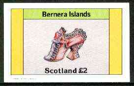 Bernera 1982 Footware imperf deluxe sheet (�2 value showing shoe of 1720) unmounted mint