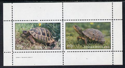 Staffa 1982 Tortoise perf set of 2 values (40p & 60p) unmounted mint