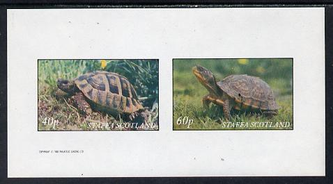 Staffa 1982 Tortoise imperf set of 2 values (40p & 60p) unmounted mint