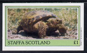 Staffa 1982 Tortoise imperf souvenir sheet (�1 value) unmounted mint