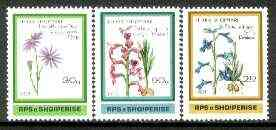 Albania 1989 Flowers set of 3 unmounted mint, SG 2414-16, Mi 2395-97*