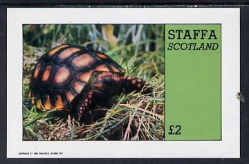 Staffa 1982 Tortoise imperf deluxe sheet (�2 value) unmounted mint