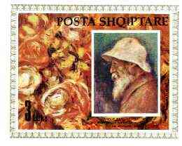Albania 1991 Birth Anniversary of Auguste Renoir imperf m/sheet unmounted mint, SG MS 2491, Mi Bl 93