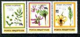 Albania 1991 Flowers set of 3 unmounted mint, SG 2492-94, Mi 2470-72*