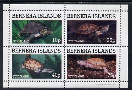 Bernera 1981 Turtles perf set of 4 values (10p to 75p) unmounted mint