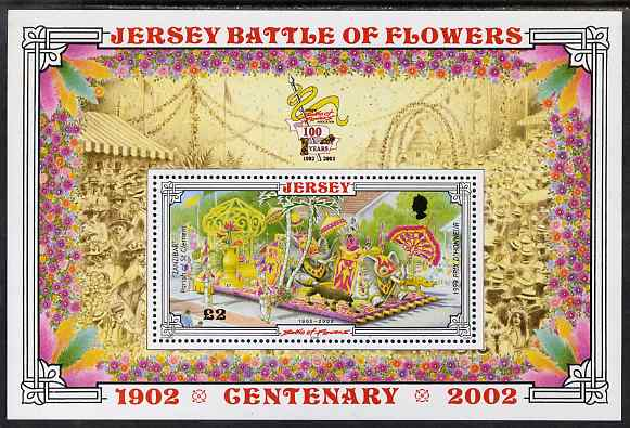 Jersey 2002 Centenary of Battle of Flowers Parade perf m/sheet unmounted mint, SG MS1059