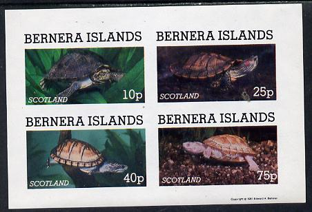 Bernera 1981 Turtles imperf set of 4 values (10p to 75p) unmounted mint