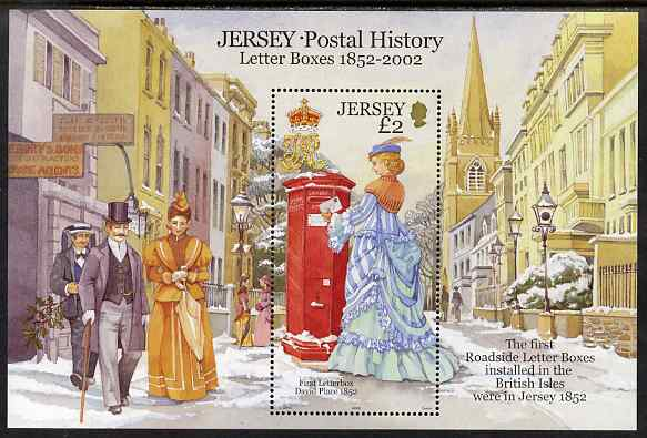 Jersey 2002 Jersey Postal History (1st Series) Postboxes perf m/sheet unmounted mint, SG MS1073