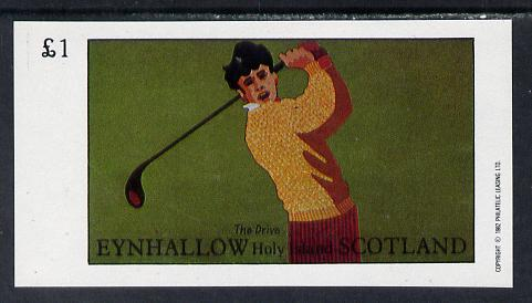 Eynhallow 1982 Golf (The Drive) imperf souvenir sheet (\A31 value) unmounted mint