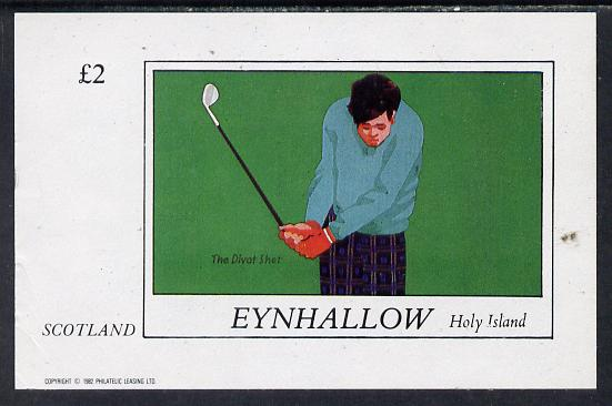 Eynhallow 1982 Golf (The Divot Shot) imperf deluxe sheet (\A32 value) unmounted mint