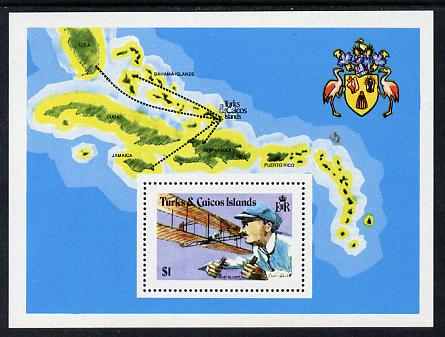 Turks & Caicos Islands 1978 Flight Anniversary m/sheet unmounted mint, SG MS 508