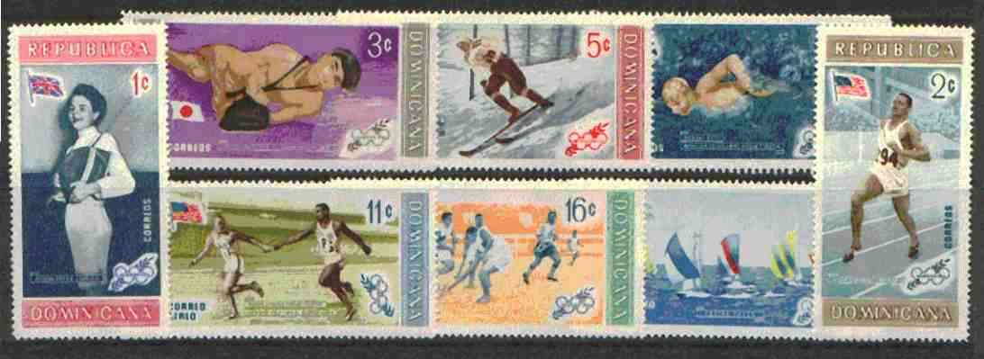 Dominican Republic 1958 Melbourne Olympic Games (4th Issue) Winning Athletes unmounted mint set of 8, SG 748-56*
