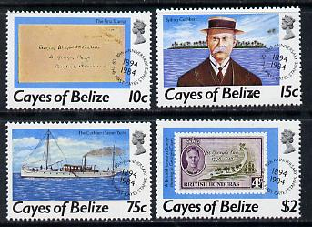 Cayes of Belize 1984 90th Stamp Anniversary set of 4 unmounted mint