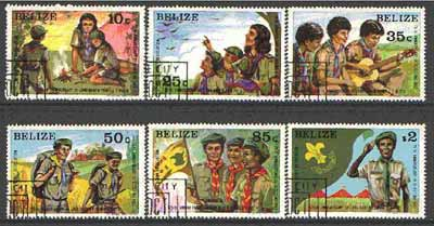 Belize 1982 Birth Anniversary of Lord Baden-Powell set of 6 cto used, SG  687-92*