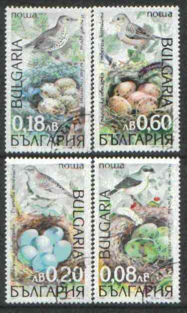 Bulgaria 1999 Song Birds & Their Eggs complete set of 4 cto used SG 4273-76*